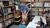 dillion harper pussy - Young thief exposed and fucked by a security guard thumbnail