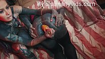 Pervy heavily tattooed transgender Lily get fisted