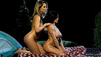 Delicious lesbian babes sensual massage rub wit...