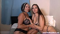 Catching Your Sexy Mom and Step-Auntie MINDI MINK LESBIAN TABOO POV thumbnail