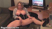 xxx video fack » Busty office slut maggie masturbates at desk! thumbnail