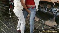 cute Blonde lesbians satisfying pussies Thumbnail