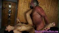 Latina spunked by old man