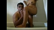 indian husband and wife  shower