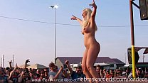 14458 wild midwest biker chicks stripping down in a biker rally contest preview