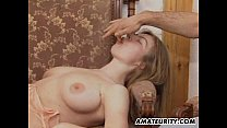 Busty amateur girlfriend gets double teamed wit...