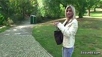 Two Boys Seduce Stranger Girl to Fuck in Park for Money
