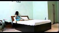 5205 Indian Bhabhi In Blue Lingerie Teasing Young Room Service Boy preview