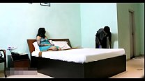 10878 Indian Bhabhi In Blue Lingerie Teasing Young Room Service Boy preview