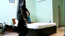 Indian Bhabhi In Blue Lingerie Teasing Young Room Service Boy preview image
