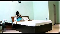 Indian Bhabhi In Blue Lingerie Teasing Young Room Service Boy Preview