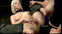 Cherry Torn is spanked, caned and is hungry for wet pussy when Felony punishes a porn image