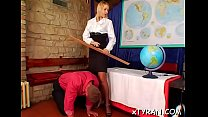 Hot femdom fetish session whit sub dude getting whip up booty - download porn videos