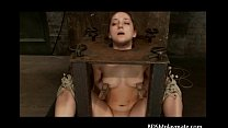 A sub girl bondaged, throatfucked and a clit tortured Preview