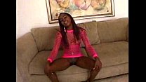 Amazing POV - Ebony in Pink Fishnet