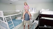 Image: Petite teen bangs in room with bunk beds