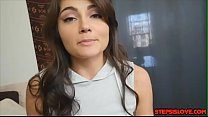 Teen babe Aspen Reign get s blackmailed by step...