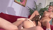 Busty Wife´s Hot BFF takes Big Dick of Hubby in a Hard & Rough Threesome