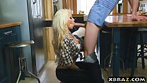 Young guy fucks his girlfriends blonde MILF ste...