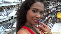 ASIANSEXDIARY Curly Haired Asian Spits and Twists On Big Foreign Dick Image