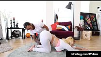 Big Booty Babe Nina Kayy Gets Big Black Cock Yoga Stretch! Image
