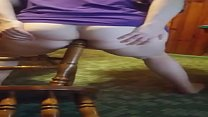 Slowed - Bbw Assfucked By Chair Leg