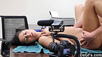 Nice auditon with a perfect beautiful latina preview image