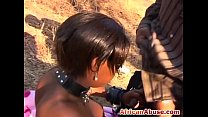 Busty Ebony African Slave Outdoor Missionary thumb