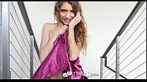 Tiny4k - Skinny Rebel Lynn strips off dress and enjoys big dick thumbnail