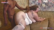 when her husband leaves this bbw mom loves to take all of Mr. Stixxx black cock video