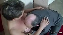 Horny German Grandpa Seduce Teen to Fuck with Him's Thumb