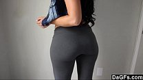 Fat Ass Wrapped In Tight Yoga Pants