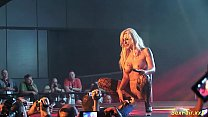 busty german Milf lapdance on stage