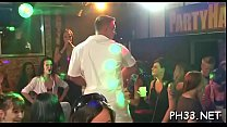 Plenty of gang bang on dance floor blow jobs from blondes wild fuck Thumbnail