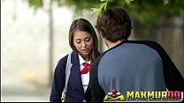 Schoolgirls' Pranks Sweet cutie Riley Reid and her new boyfriend's Thumb