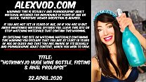 Hotkinkyjo Huge Wine Bottle  Fisting  & Anal Pr