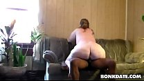 White BBW gives head and rides BBC preview image