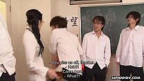 Slutty ass teacher getting fucked by her randy students Preview