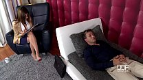 Super Horny Therapist gets ass fucked by her Pornstar Client Image