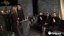 Horny Nuns Cut Loose And Have A Crazy Anal Orgy In Church