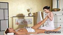 Lesbians finger fucking after massage ◦ hot sax porn thumbnail