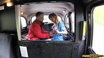 Blonde nurse in sexy lingerie gets fucked hard in a cab Vorschaubild