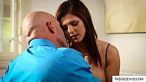 Protective stepdad seduce by hot teen daughter image