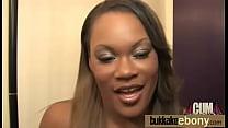 Ebony babe in group sex hardcore action 16