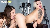 AMATEUR EURO - Hot Teen Latinas Shares Cock After Lesbian Sex (Alexa Nasha & Mey Madness)