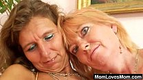 Hairy mom gets toyed by kinky blonde mom Thumbnail