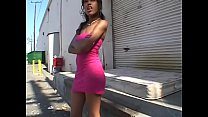 Black hooker with nice tits gets a white dick f...