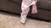 not her first time using a dildo super hot stri...