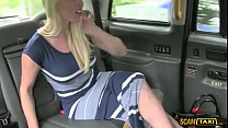 New guy driver gives his blonde slutty customer... thumb