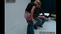 Nasty blonde MILF Nina is bent over preview image